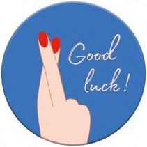 magneet Good Luck 5,5 cm rond