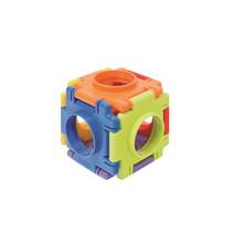 bouwblokken Kubus 4 cm junior 6 stukjes