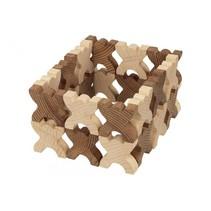 stapeltoren blokjes hout 48-delig