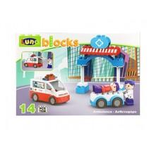 blokkenset ambulance 14-delig