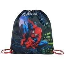 gymtas Spiderman jongens 33 x 37 cm polyester blauw/rood