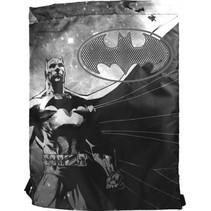 Batman rugzak gymtas met trekkoord 42 x 33 cm zwart