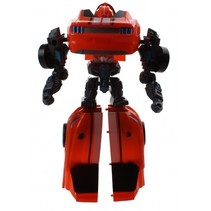 Flames Warrior transformer jongens auto oranje 18 cm
