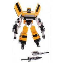 transformation robot busje 26 cm geel