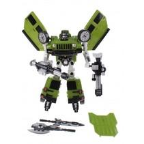 transformation robot busje 26 cm groen