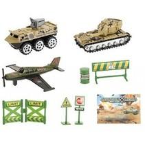 speelset Army jongens groen 8-delig