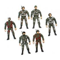 speelset Combat soldaten jongens 10 cm groen 17-delig