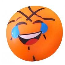 squishy klevende basketbal oranje 6,5 cm