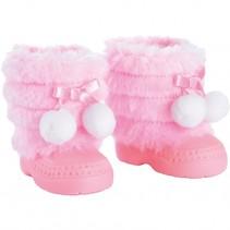 Winterlaarzen voor poppen roze