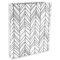 ringband Zepp lijnen 2-rings A4 karton zwart/wit