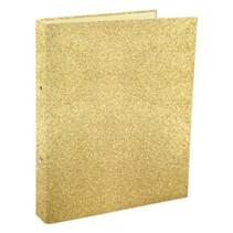 ringband Glitter junior 2-rings A4 karton goud