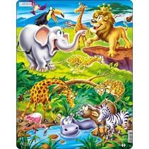 legpuzzel Maxi dieren op safari 18 stukjes
