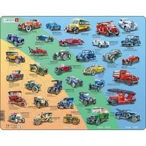 legpuzzel Maxi Historie auto's 42 stukjes