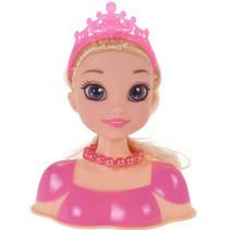 kaphoofd blond haar meisjes roze 11-delig