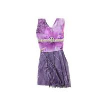 feestjurk Lauren meisjes 14 cm textiel paars