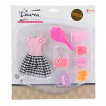 tienerpopkleding en accessoires meisjes roze 8-delig
