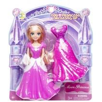 prinses met extra jurk roze 14 cm 2-delig