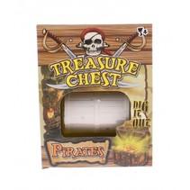 graafset Treasure Chest Pirates bruin/crème