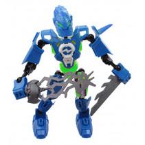 gevechtsrobot Earth Warrior junior 18 cm blauw