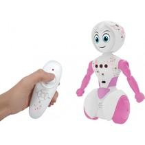 robot Suki Bot 18 cm wit/roze