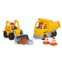 bouwpakket bouwvoertuigen 32-delig