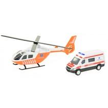 trauma helikopter + ambulance oranje/wit