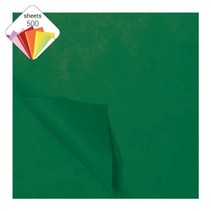 zijdevloeipapier 500 vellen 50 x 70 cm donkergroen