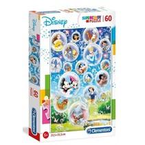 supercolor legpuzzel Disneyfiguren 60 stukjes