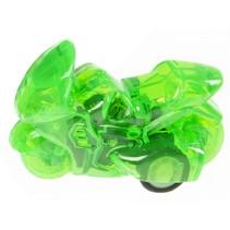 racemotor pull back jongens 5 cm groen/transparant