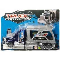 autotransporter Container junior 18 cm blauw 2-delig