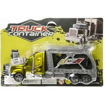 autotransporter Container junior 18 cm geel 2-delig