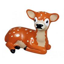 spaarpot Deer junior 20,5 x 12 x 14 cm polystone bruin
