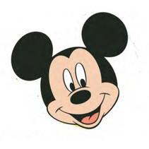 kussen junior Mickey Mouse 35 cm polyester zwart/beige