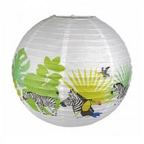lampion Tropical junior 45 cm papier wit/groen