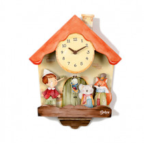 wandklok Pinokkio junior 31 x 42 cm hout