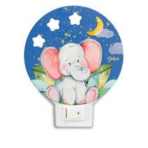 nachtlamp olifant led junior 12 x 4 cm hout