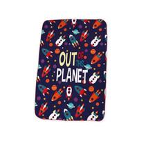 fleecedeken Out of the Planet junior 100 x 150 cm polyester blauw