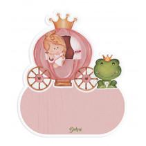 naambord prinses meisjes 12 x 17 cm hout roze