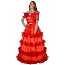verkleedjurk dames polyester rood