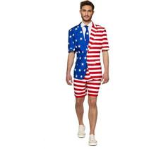 zomer-verkleedpak Mr. USA heren polyester