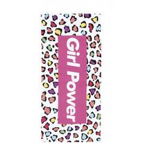 strandlaken Girl Power meisjes 80 x 160 cm microfiber