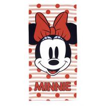 strandlaken Minnie meisjes 70 x 140 cm microfiber rood