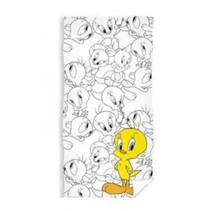 strandlaken Tweety junior 70 x 140 cm katoen geel/wit