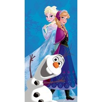 badhanddoek Frozen blauw 70 x 140 cm meisjes