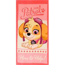 badlaken Paw Patrol Here to Help 140 cm katoen roze