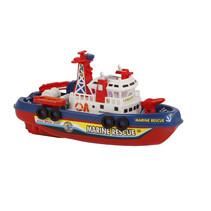 brandweerboot met waterfunctie 26 cm rood