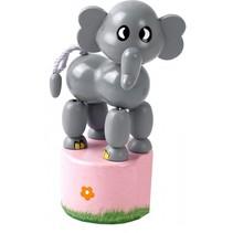 drukfiguur olifant grijs 11 cm
