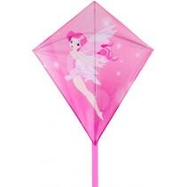 Diamantvlieger Elf 50 x 70 cm roze/wit