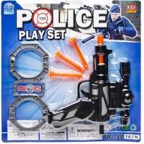 speelgoedpistool Police Play Set junior zwart 5-delig