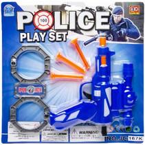 speelgoedpistool Police Play Set junior blauw 5-delig